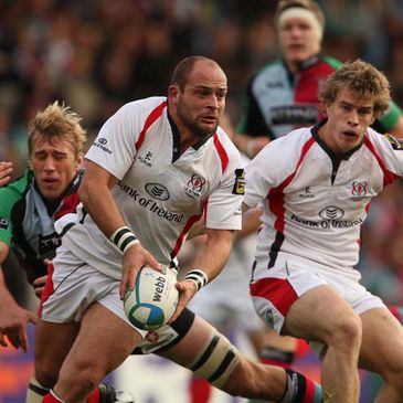 Ulster captain Rory Best looks for support against Harlequins