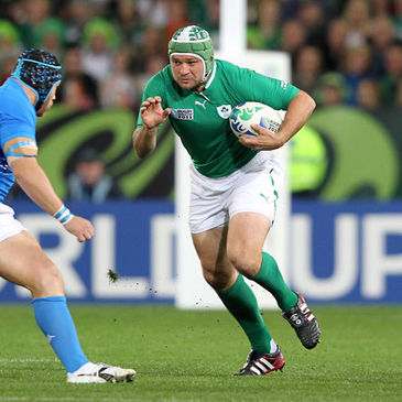Ireland hooker Rory Best in action against Italy
