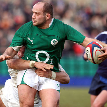 Rory Best is pictured in action against England Saxons