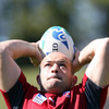 Rory Best, who started Ireland's opening two pool wins over the USA and Australia, is pictured practising his lineout throwing in Rotorua