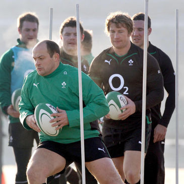 Rory Best training with the Ireland squad on Tuesday