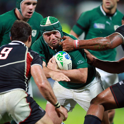 Photos of Ireland's Rugby World Cup win over the USA in New Plymouth