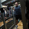 Rory Best was hard at work when Inpho photographer Dan Sheridan snapped him in the Alpine health and fitness centre