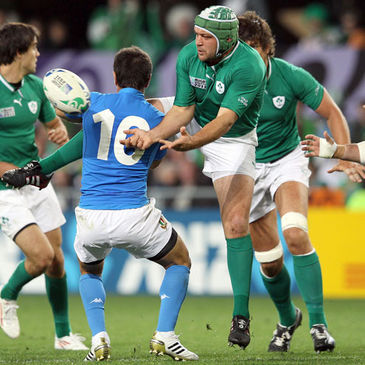 Rory Best in action against Italy