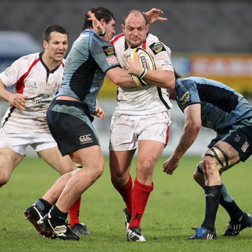 Ulster's Rory Best in action against Cardiff