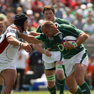 Rory Best in action against the USA in May 2009