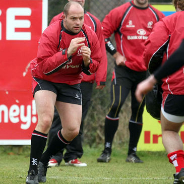 Rory Best training with the Ulster squad