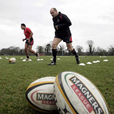 Filo Paulo and Rory Best training with Ulster