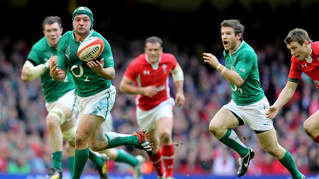 Rory Best on the attack for Ireland