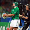 Ireland forced the early pace but were scoreless until the 17th minute. Hooker Rory Best is pictured preparing to throw into a lineout