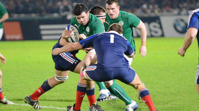 Rory Burke in action against the France U-20s
