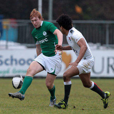 Rory Scholes in action for the Ireland Under-18s