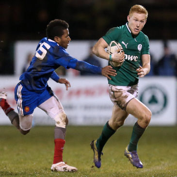 Rory Scholes breaks forward for the Ireland Under-20s