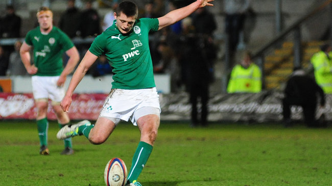 Ross Byrne kicked all of Ireland's points in Northampton