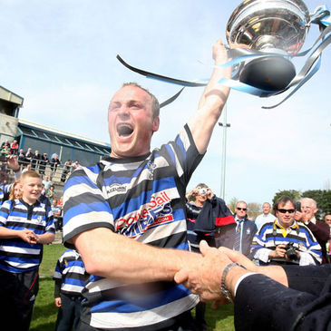 Crosshaven captain Ross O'Connell with the trophy