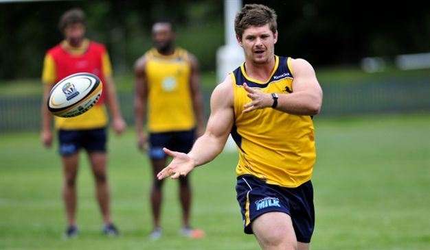 Ruaidhri Murphy training with the Brumbies