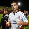 Ruan Pienaar has reason to celebrate after his debut haul of 19 points steered Ulster to a narrow win over Glasgow