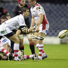 As Ulster press the Edinburgh defence, Ruan Pienaar fires a pass away from a midfield ruck