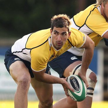 Ruan Pienaar training with the South Africa squad