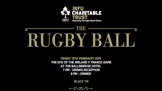 The Charitable Trust Black Tie Rugby Ball