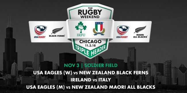 Ireland To Play Italy In Chicago In November