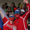 The second ever Test match between Ireland and Russia also drew plenty of Russian fans to Rotorua International Stadium