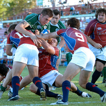 Ryan Caldwell in action against the USA during last year's Churchill Cup