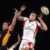 Ulster's Ryan Caldwell taps the ball down at a lineout as the home side try to put the pressure on