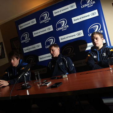 Leinster's Dominic Ryan, Joe Schmidt and Ian Madigan