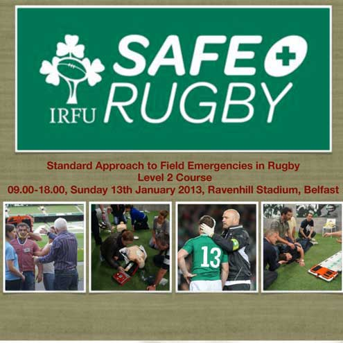 Sign up online today for the IRFU SAFE Rugby seminar at Ravenhill in January