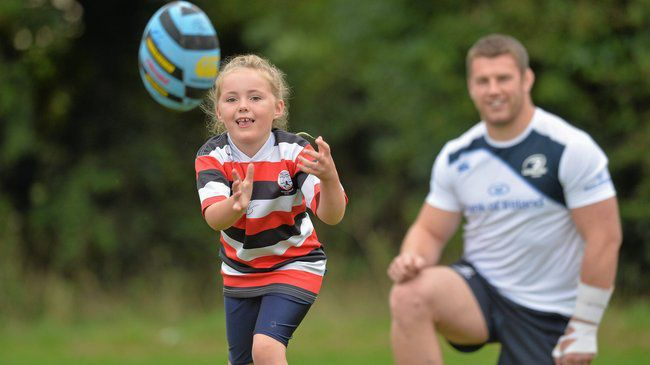 Sean O'Brien at a camp in Tullow RFC