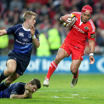 Munster's Sam Tuitupou in action against Leinster