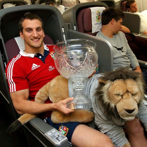 British & Irish Lions' Flight Home And Arrivals In London, Dublin And Belfast, Wednesday, July 10, 2013