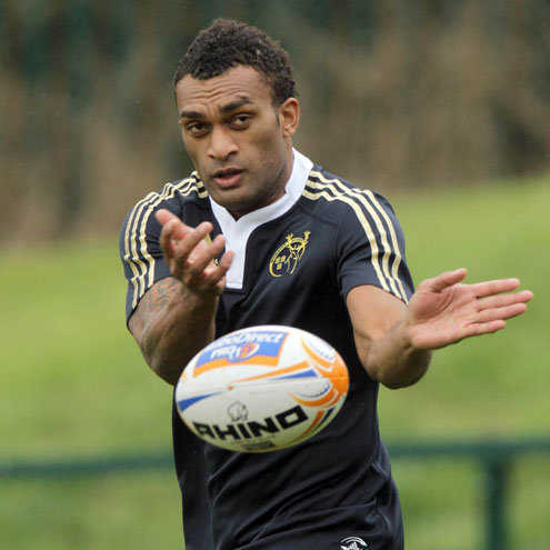 Savenaca Tokula trained with the Munster squad in Cork
