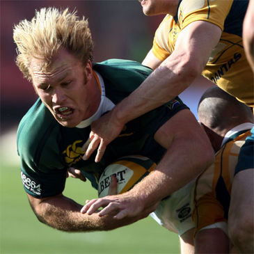 Schalk Burger in Tri Nations action for South Africa