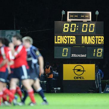 The final scoreline at the RDS
