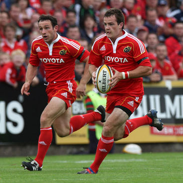 Munster's Danny Riordan and Scott Deasy