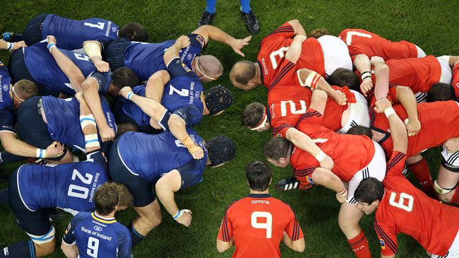 Conor Murray feeds the ball into a scrum