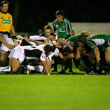 Scrum time during Connacht's home match against Edinburgh