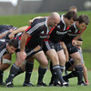 John Hayes, Mike Sherry and Marcus Horan combine in the front row as Munster work on their scrummaging