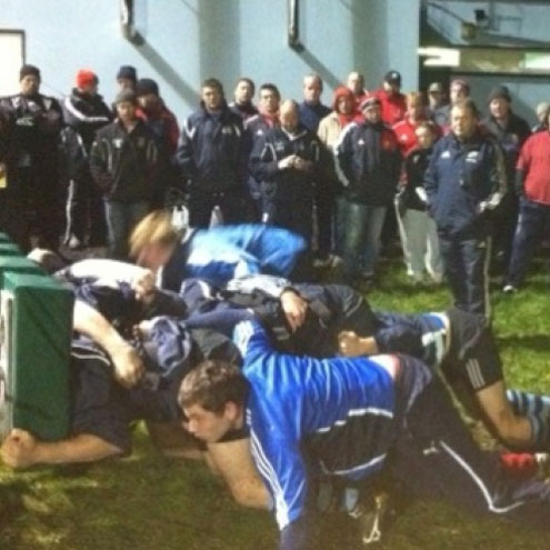 Munster scrum coach Paul McCarthy hosted the clinic