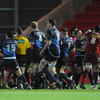Tempers flared between the players after Leinster flanker Sean O'Brien had caught the Scarlets' Dan Newton with a high tackle