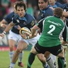 Connacht hooker Sean Cronin, who had an excellent match, lines up a tackle on Glasgow's Bernardo Stortoni
