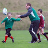 Sean Cronin is well marked as he keeps a move going during a training game at the school's 'Gully' ground