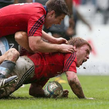 Sean Dougall was a try scorer for Munster against Racing Metro