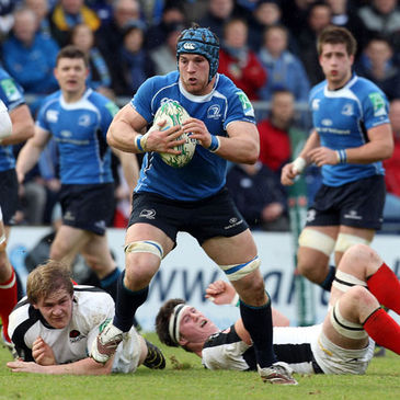 Sean O'Brien in Heineken Cup action for Leinster