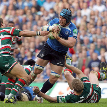 Sean O'Brien in action against Leicester Tigers