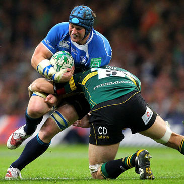 Leinster's Sean O'Brien in action against Northampton