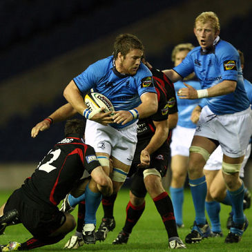 Sean O'Brien in action for Leinster against Edinburgh
