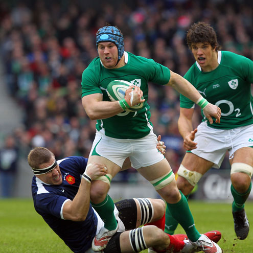 Ireland's Sean O'Brien in action against France